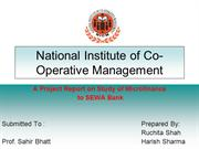 National Institute of Co- Operative Management
