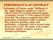 UNIT 1 PERFORMANCE OF CONTRACT