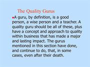 quality gurus ppt