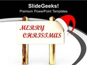 CHRISTIAN CHRISTMAS CELEBRATION WITH SANTA CLAUSE PPT TEMPLATE 1