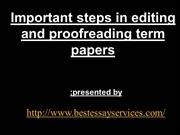 Important steps in editing and proofreading term papers