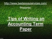 Tips of Writing an Accounting Term Paper