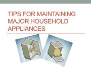 Accufix Appliance - Tips for Maintaining Major Household Appliances