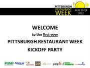 Pittsburgh Restaurant Week Kickoff Party Slideshow