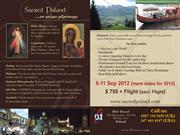 Sacred Poland 7 Days Pilgrimage and Holiday of a Lifetime