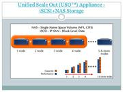 Unified Scale Out (USO™) Appliance - iSCSI+NAS Storage