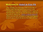 Hotel in Erie PA, Hotel in North East PA