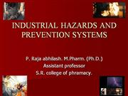 INDUSTRIAL HAZARDS AND PREVENTION SYSTEMS
