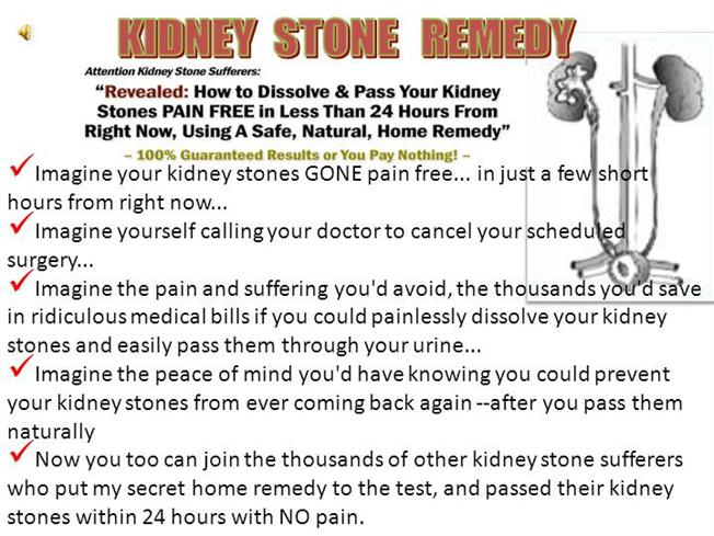 Cure kidney stone authorstream ccuart Gallery