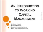 An Introduction to Working Capital Management