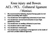 Knee injury and Bowen.