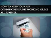 How to Keep Your Air Conditioning Unit Working