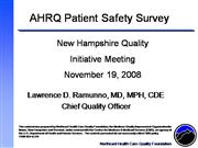 New Hampshire AHRQ Patient Safety Survey...