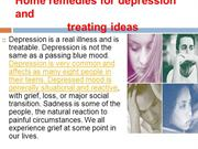 Home remedies for depression and treating ideas