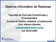 Sistema Informtico de Reservas