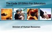 The Code Of Ethics For Educators