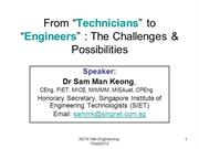 From Technicians to Engineers : Challenges & Possibilities