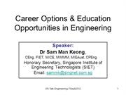 Career Options & Education Opportunities in Engineering - 2012