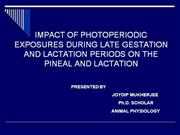 photo periodic effects on lactation