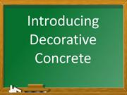 Introducing Decorative Concrete