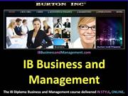 IB Business and Management Accounts and Finance 3.3 Working Capital