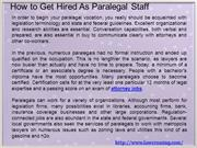 How to Get Hired As Paralegal Staff