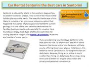 Car Rental Santorini the Best cars in Santorini