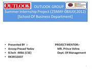Outlook  summer intern ppt BY anoop