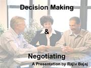 Decision Making & Negotiation