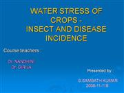 water stress - insects