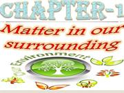 matter in our surrounding
