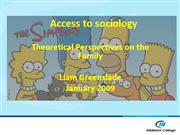 Sociology access Lec 1 Theories of the family