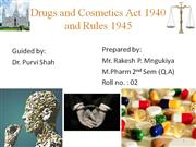 Cosmetic act 1940
