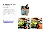 FAT BURNING DIET MEAL PLAN WOMEN