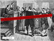 salem witch trials - moral and mass hysteria