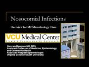 Nosocomial Infections 2006 M2 Medical Microbiology Class