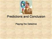 Predictions and Conclusion