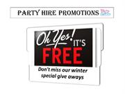 Party Hire Winter Promotions