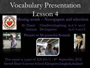 Newspaper and TV - Lesson 04