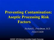 aseptic processing medi -fill revised documents