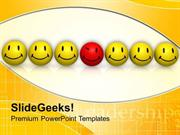 CONSULTING BEDIFFERENT SMILEY BUSINESS CONCEPT PPT TEMPLATE