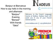 french language course at Nadeus, jalandhar