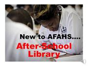 After School Library Presentation