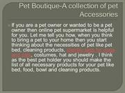 Pet Boutique-A collection of pet Accessories--PPT