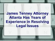 James Tenney Attorney Atlanta