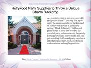 Hollywood Party Supplies to Throw a Unique Charm Backdrop