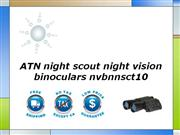 ATN night scout night vision binoculars nvbnnsct10