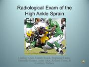 Radiological Examination of the High Ankle Sprain
