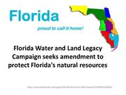 Florida Campaign seeks  to protect Florida's natural resources