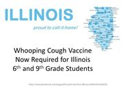 Whooping Cough Vaccine  for Illinois 6th and 9th Grade Students